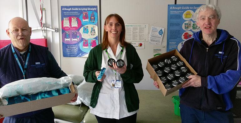 St Leonards Community Hospital with LUSH donations