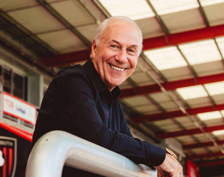 """Chairman of AFC Bournemouth Jeff Mostyn allocates existing funding to deserving charities including Lewis-Manning which he says """"does such great work within the community."""""""
