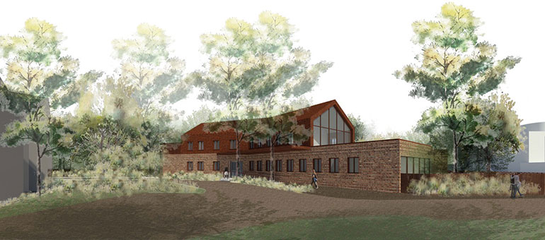 A CGI of the new eating disorders unit at St Ann's Hospital, Poole, Dorset