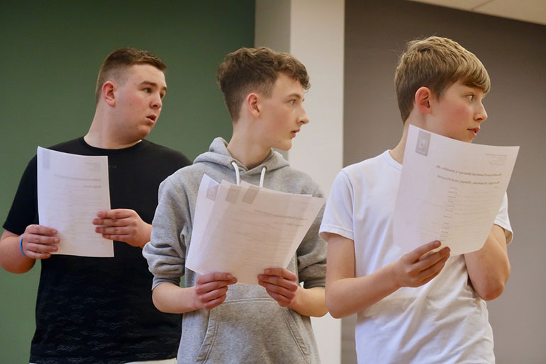 Boys acting with Stagewise