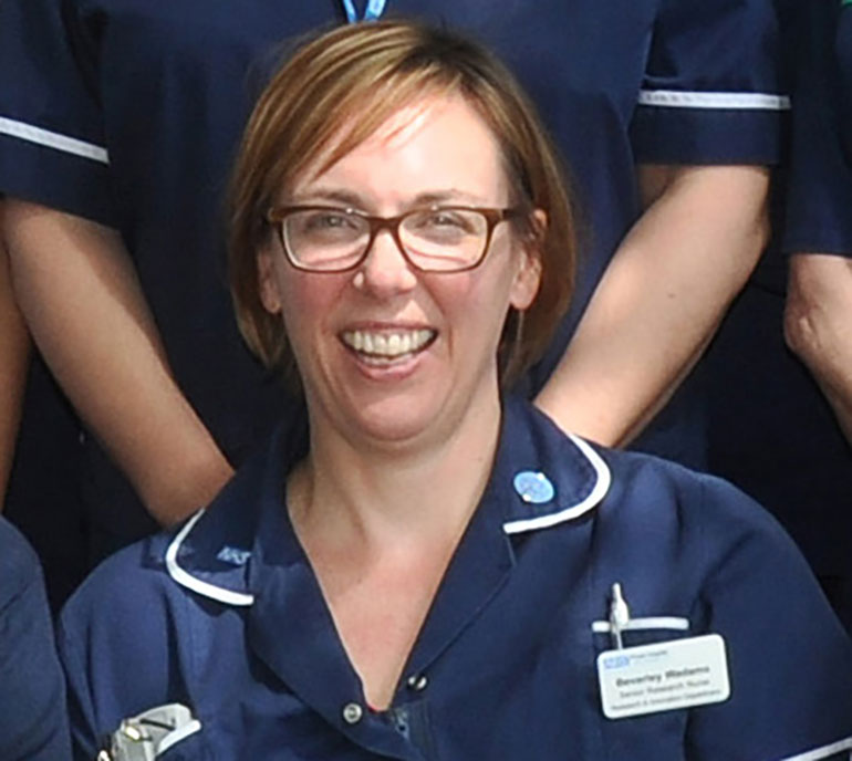 Beverley Wadams, senior research nurse at Poole Hospital