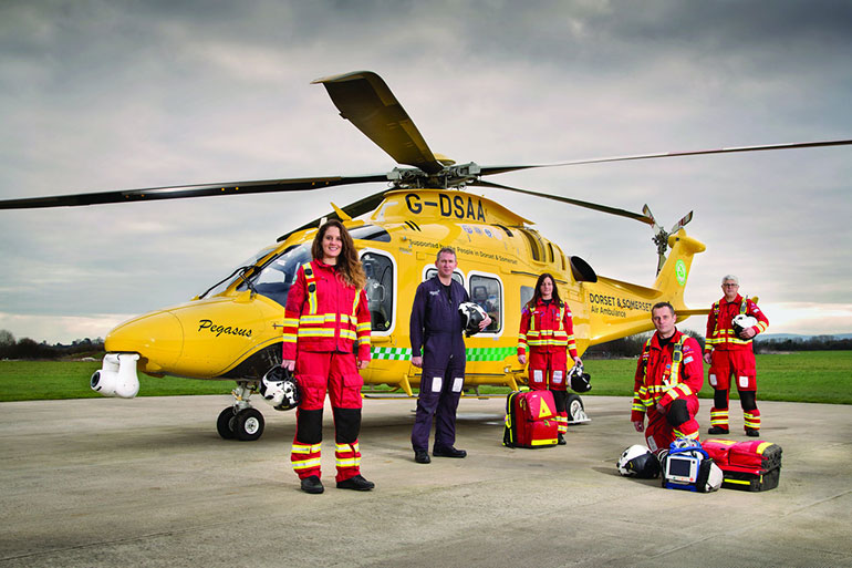 Following new guidance Dorset & Somerset Air Ambulance can now carry COVID-19 sufferers to hospital