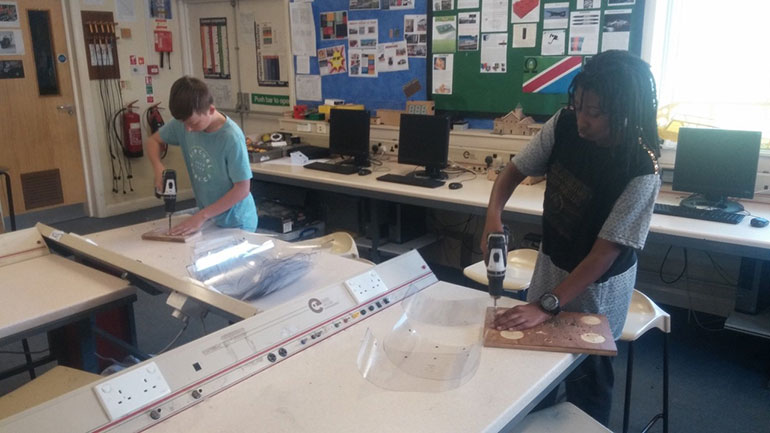 PPE production at Poole Grammar