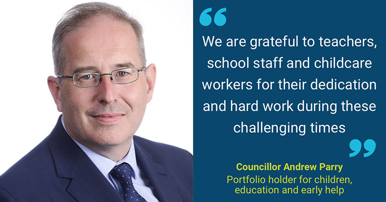 A thank you to childcare workers, teachers and school staff from Councillor Andrew Parry, Dorset Council