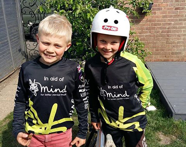 Hadley (left) and Layton (right) smashed their fundraising target of £500 in 12 days and are still cycling to complete the challenge for Dorset Mind