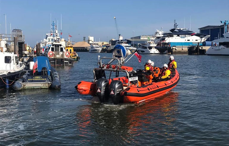 Following a mayday call, Poole Lifeboat crew appeal to people to respect the request to 'Stay Home, Protect the NHS, Save Lives' saying they cannot socially distance on the lifeboats