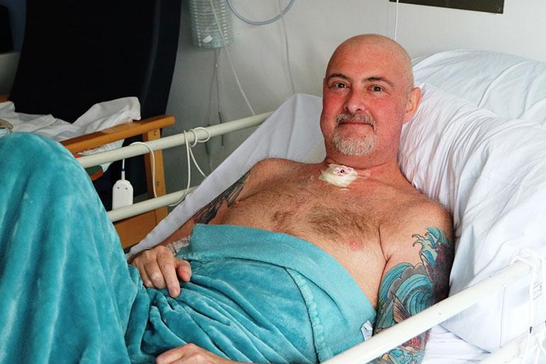 Ian in Poole Hospital