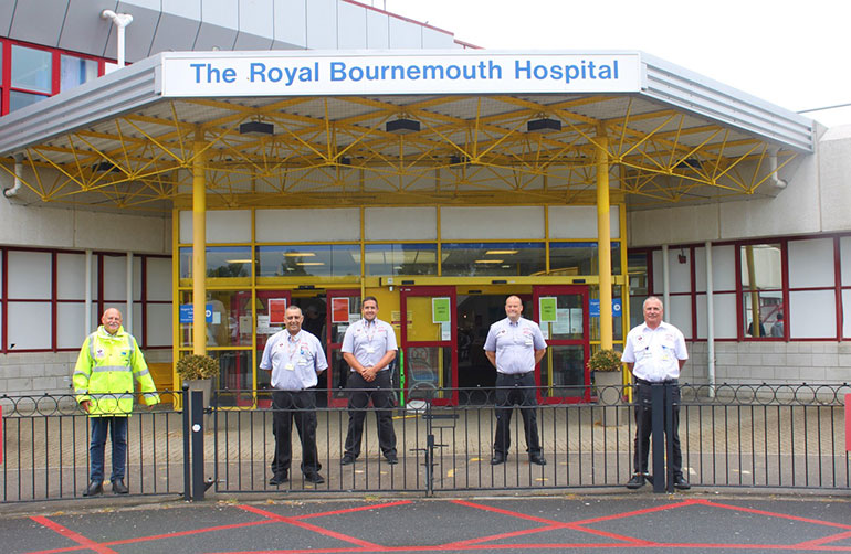 Hospital porters and security staff at the Royal Bournemouth Hospital
