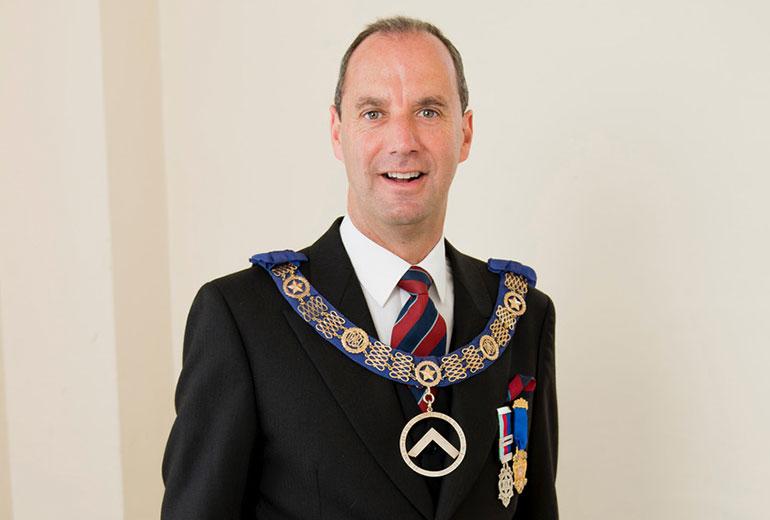 Jon Whitaker, Provincial Grand Master of Hampshire and Isle of Wight Freemasons