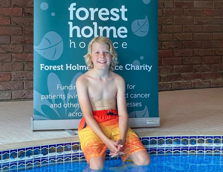 10 year old Fraser Burnet will swim 'The Channel'