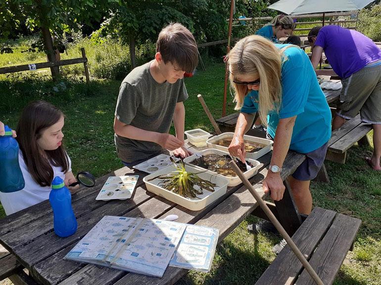 Children enjoying outdoor activities