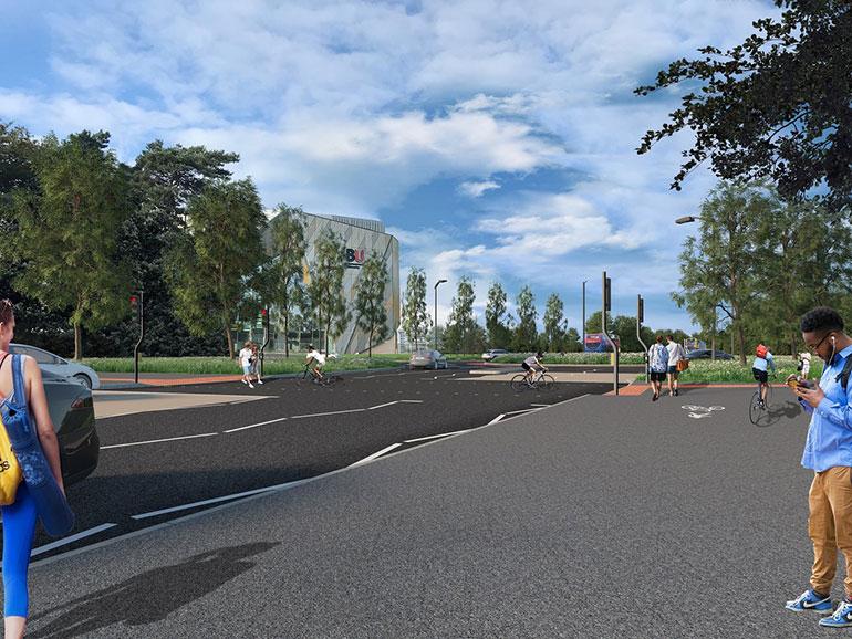 Boundary roundabout 3-D visualisation