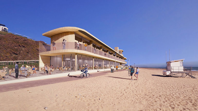 Photo visualisation courtesy of Footprint Architects shows proposal at Southbourne beach