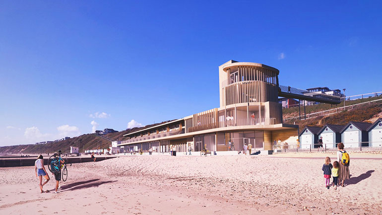 Photo visualisation courtesy of Footprint Architects shows the proposals at Southbourne beach