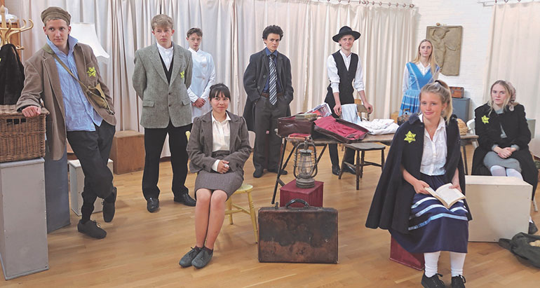 Ringwood Waldorf School Class 10 pupils in rehearsal for their play about Anne Frank