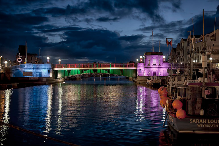 Weymouth-Bridge-night