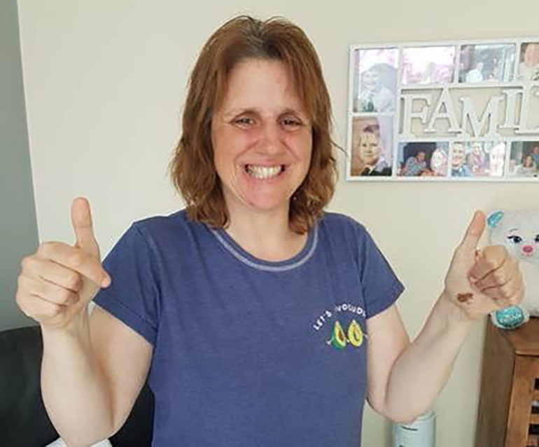 Zoe gives a helping hand to her local community by keeping busy and staying positive