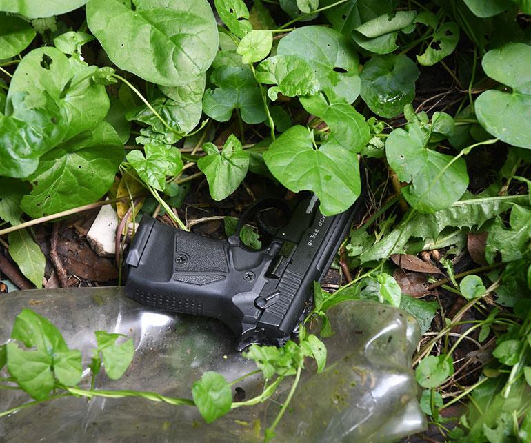 Two jailed: handgun found during investigation