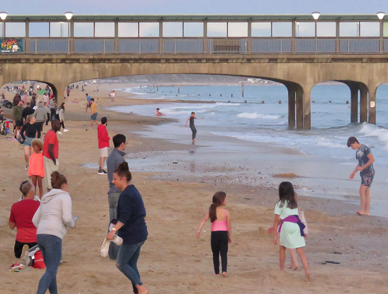 Check how busy the beach is before you set off