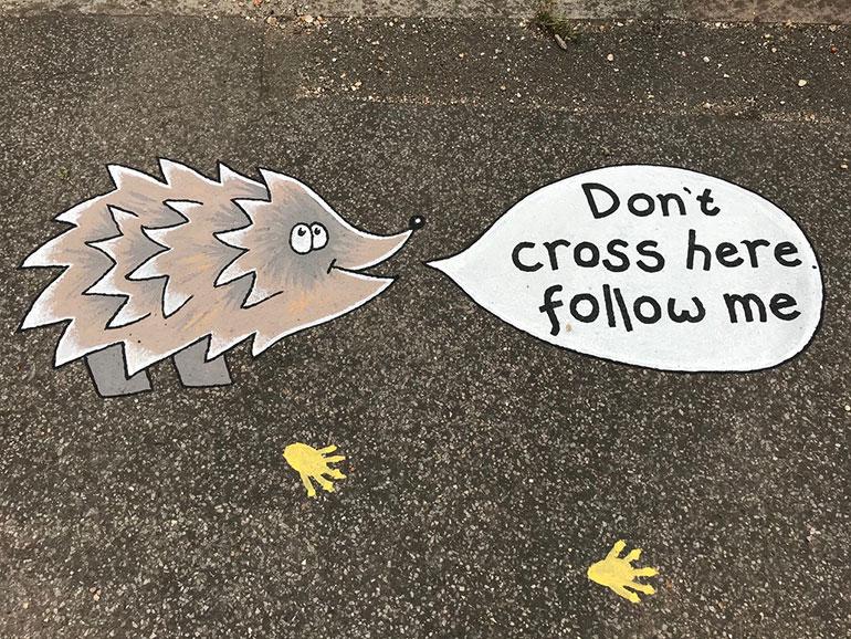 Pavement artwork