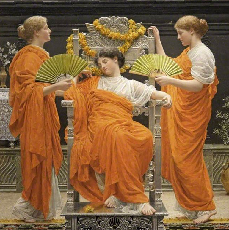 Russell-Cotes is now open: Midsummer (1887) a striking painting in the museum's collection by Albert Moore