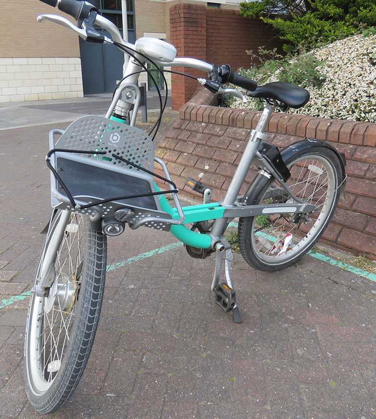 Beryl bike share encourages cycling and is available in Bournemouth and Poole - in the current COVID-19 climate, please sanitise hands and wipe down the bike