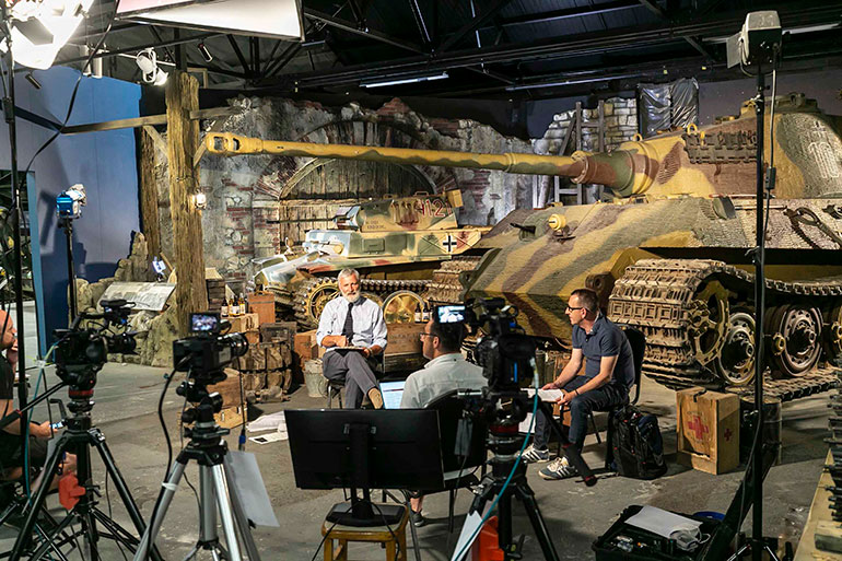 David Willey (left) curator of the Tank Museum and Richard Cutland, head of Military Relations for World of Tanks