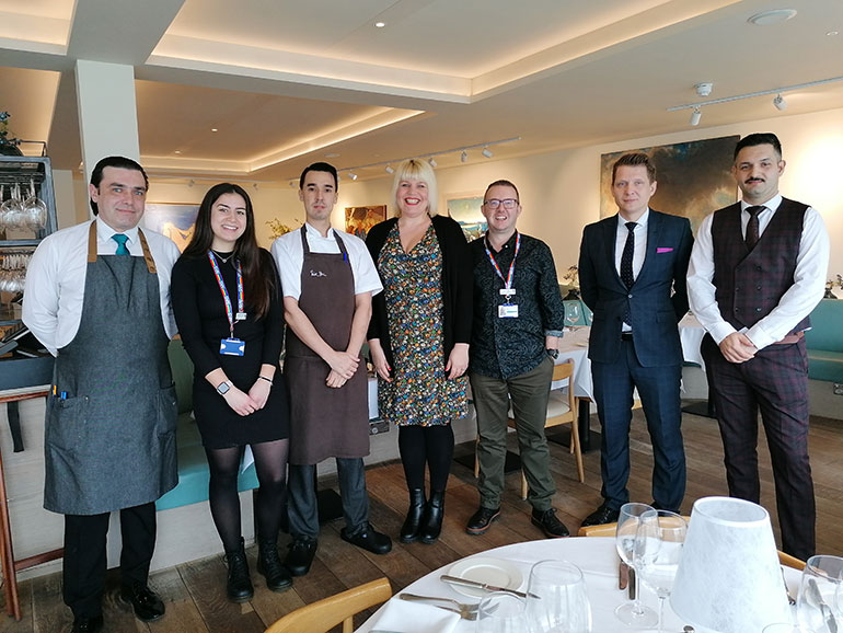 Staff of both Rick Stein's in Poole and Forest Holme before lockdown