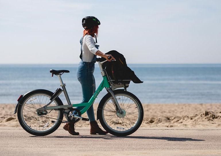 A rider with a Beryl Bike