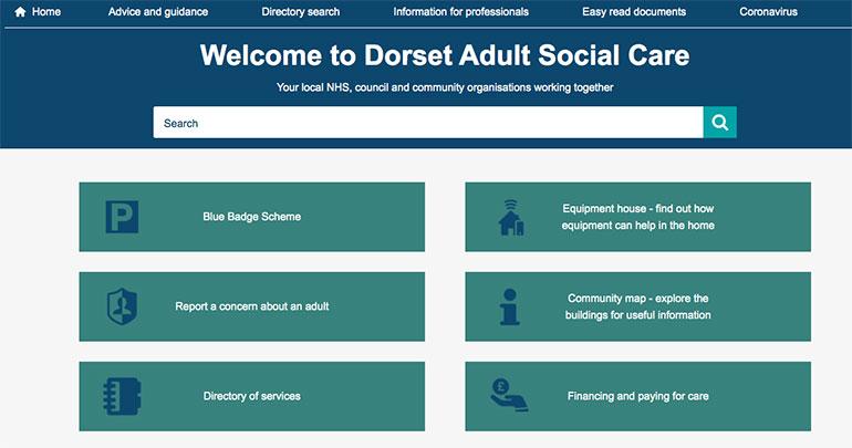 Dorset-Adult-Social-Care-website