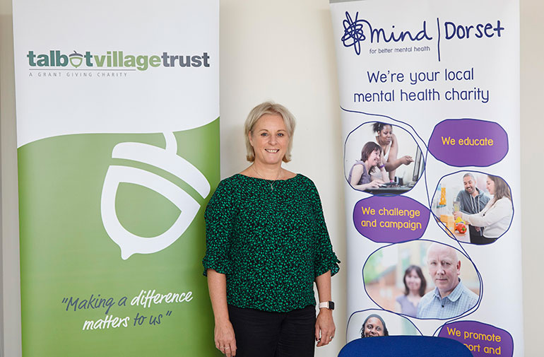 Marianne Storey, chief executive of local mental health charity Dorset Mind