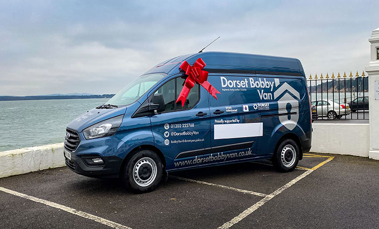 The Dorset Bobby Van at its launch earlier this year