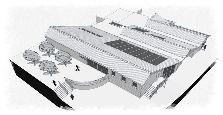 Artist's impression of Kingston Maurward College University Hub