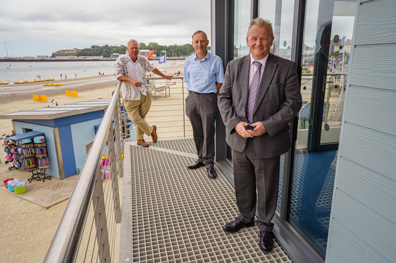 L-R, Cllr David Northam, Mr Hammond, CEO of Hammond Building Contractors and Cllr Gary Suttle