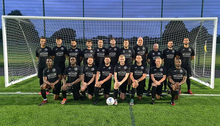 Ferndown FC in their Diverse Abilities training tops
