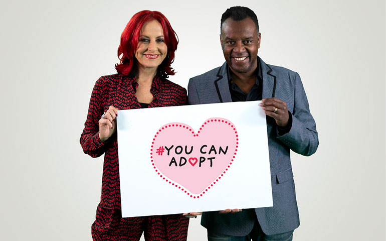 Carrie and David Grant feature in a film encouraging others to consider adoption