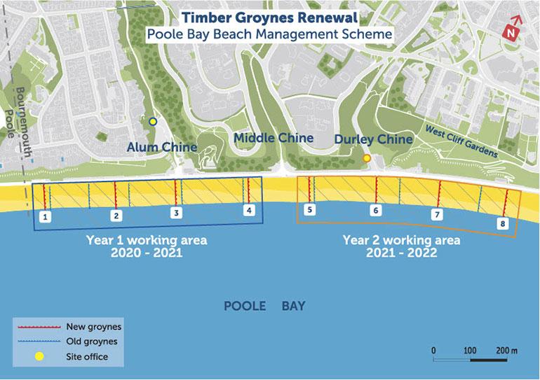 The groyne renewal map