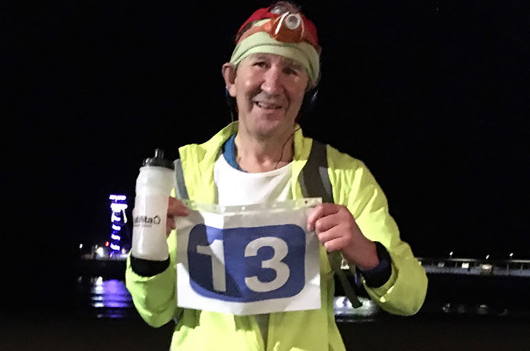 While most of us are asleep Paul O'Boyle, 56, will be running 27 marathons
