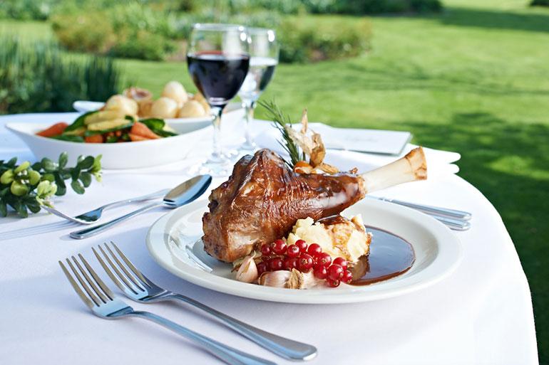Merlins Catering lamb shank