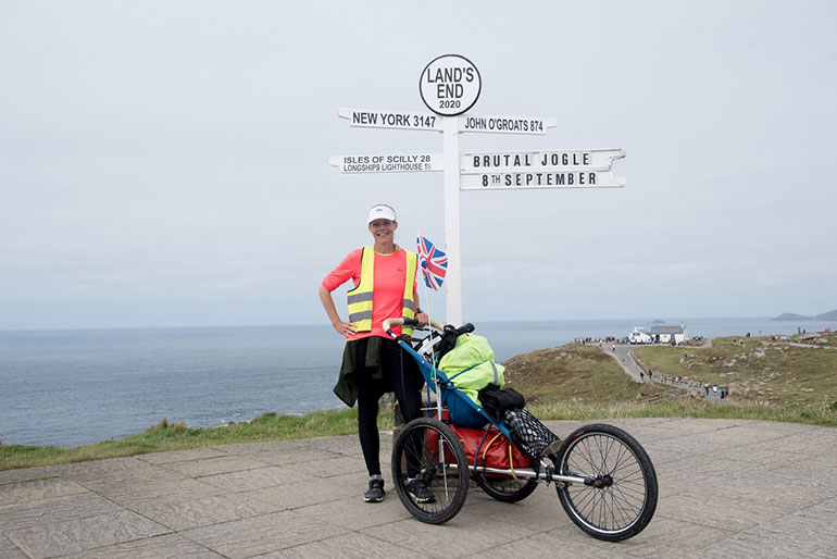 Claire Smith on her Jogle from John O' Groats to Land's End