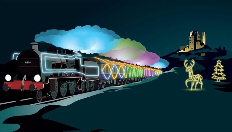 Swanage-Railway-Christmas-lights