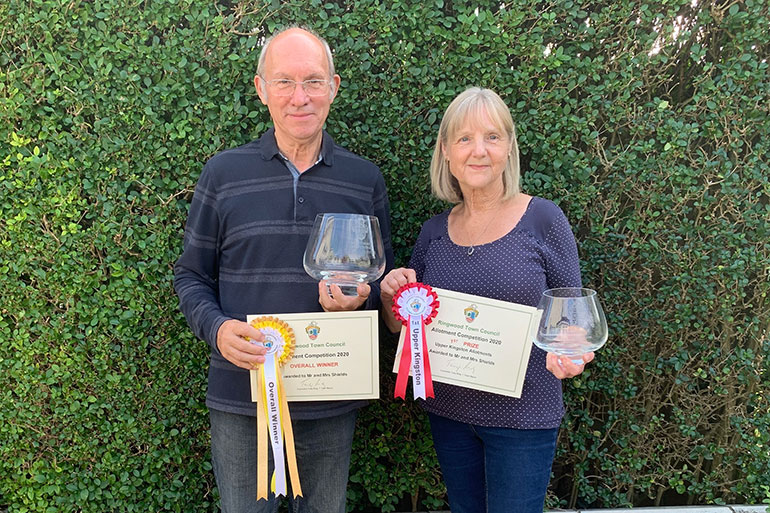 Mr and Mrs Shields were overall winners