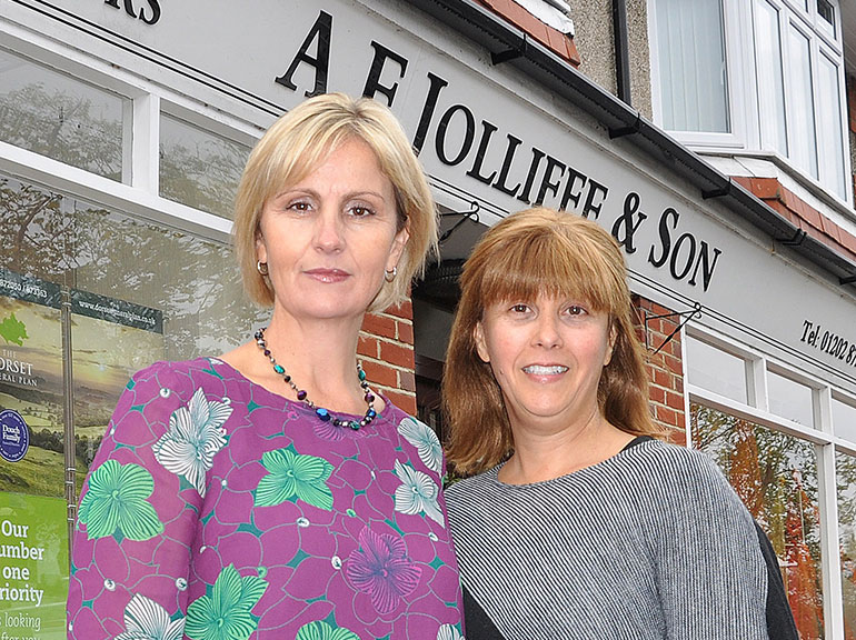 Emma Regan from Douch Family Funeral Directors and Cindy Weller, bereavement counsellor
