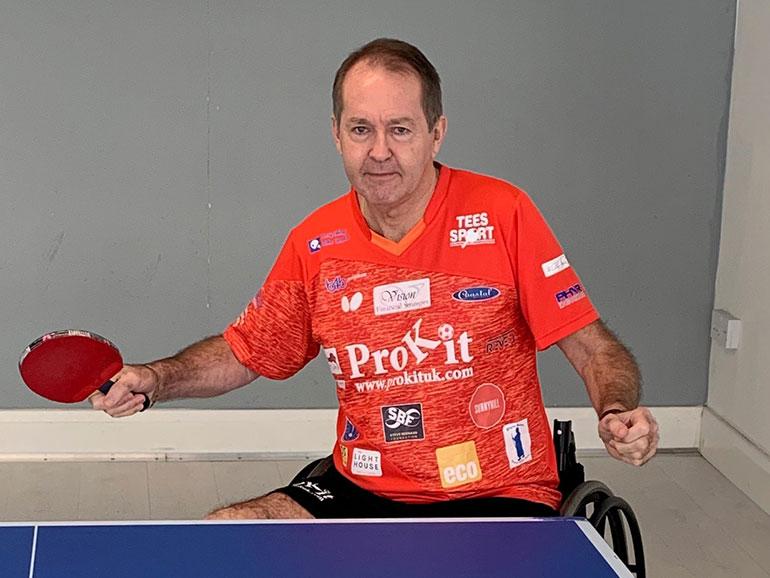 INSPIRING. wheelchair table tennis player Simon Heaps