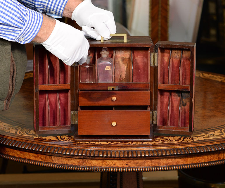 William Beatty's medicine cabinet which is being offered over the 2Covet platform