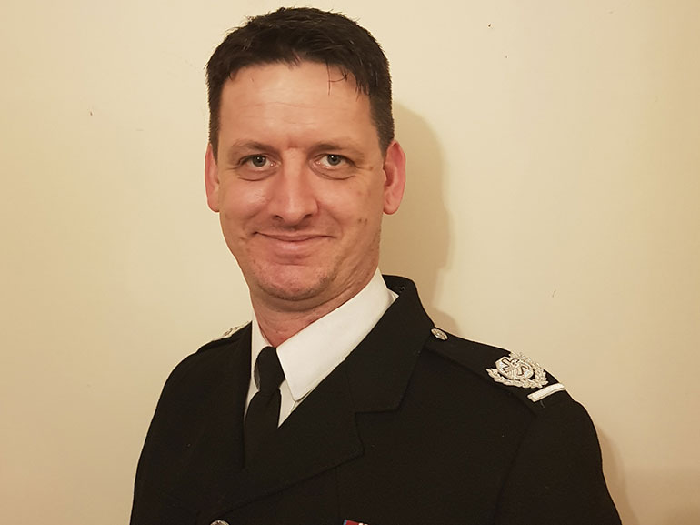 Area manager Andy Cole QFSM © Dorset & Wiltshire Fire and Rescue Service