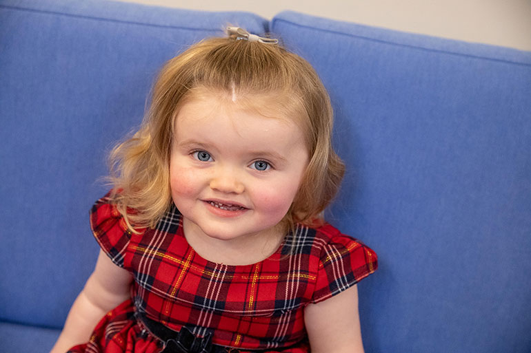 Ellie Humphries, the face of Julia's House Christmas appeal