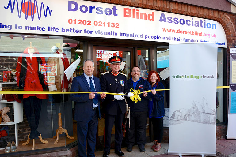 The Dorset Blind Association shop opening in 2019 which was supported bu the Talbot Trust