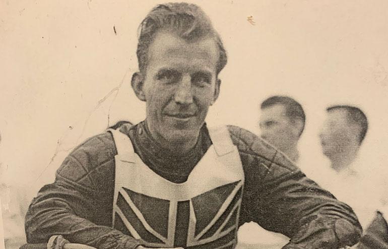 Speedway rider Ken Middleditch
