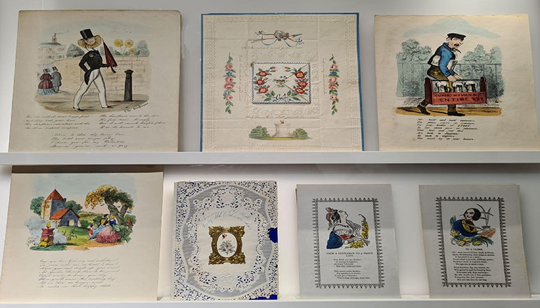 Some of the Victorian Valentine cards